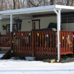 patio covers installed for wraparound front porch