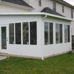 sun room addition installed for backyard