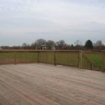 wood deck installation after completion