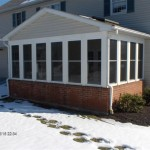 sun room built on brick foundation in the Winter
