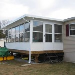 three season room installed for a mobile home