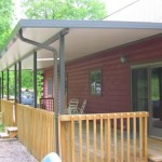 wide deck installed with slanted roof installed