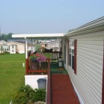 roof built over front porch of mobile home