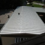 mobile home with completed re-roofing
