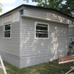 installation of siding for mobile home