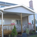 custom awning built for back porch