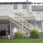 watch this deck get converted into a screen room