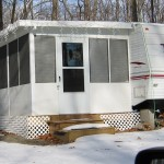 large sun room installed for RV
