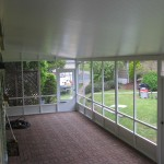 view from inside screen room