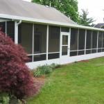 screen room in backyard length of house