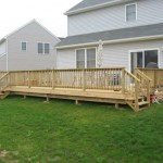 custom designed deck installed in backyard