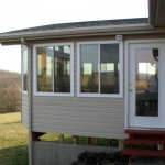 second level home addition built with matching siding