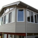 custom home addition built on second level of house