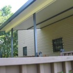 custom porch installed over existing deck