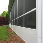 closeup angle of newly installed screen room