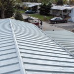 re-roofing project for mobile home completed